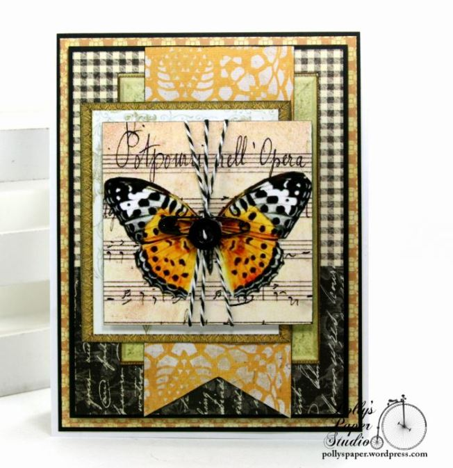 Butterfly Music Greeting Card Polly's Paper Studio 02
