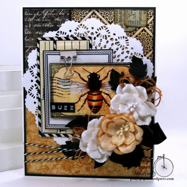Buzz Bee Greeting Card Polly's paper Studio 01
