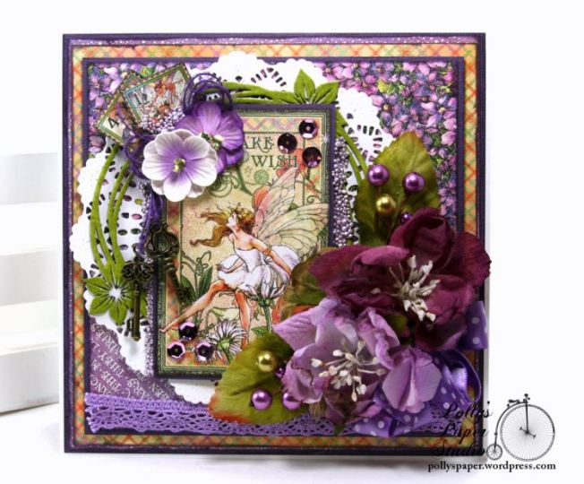 Fairy Dust Greeting Card Polly's Paper Studio G45 07