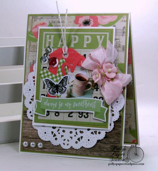 Happy Bingo Valentine Greeting Card Polly's Paper Studio 01