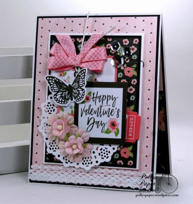 Happy Valentine's Day Greeting Card Polly's Paper Studio 01