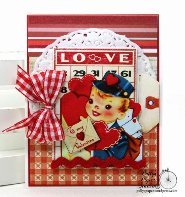 Love Letter Bingo Valentine Greeting Card Polly's Paper Studio