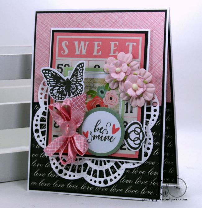 Sweet Bingo Valentine Greeting Card Polly's Paper Studio 01