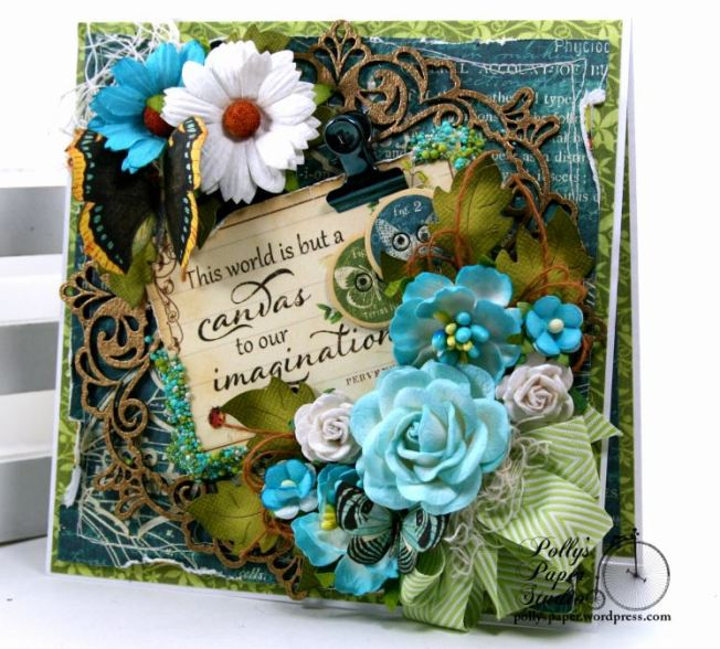 The World is a Canvas Greeting Card Polly's Paper Studio G45 01