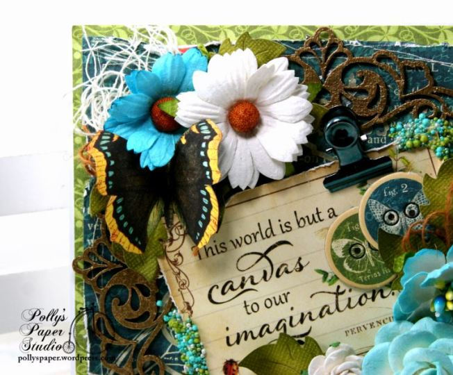 The World is a Canvas Greeting Card Polly's Paper Studio G45 04