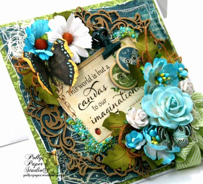 The World is a Canvas Greeting Card Polly's Paper Studio G45 08