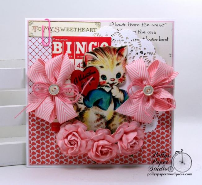 To My Sweetheart Retro Valentine Greeting Card Polly's Paper Studio 01