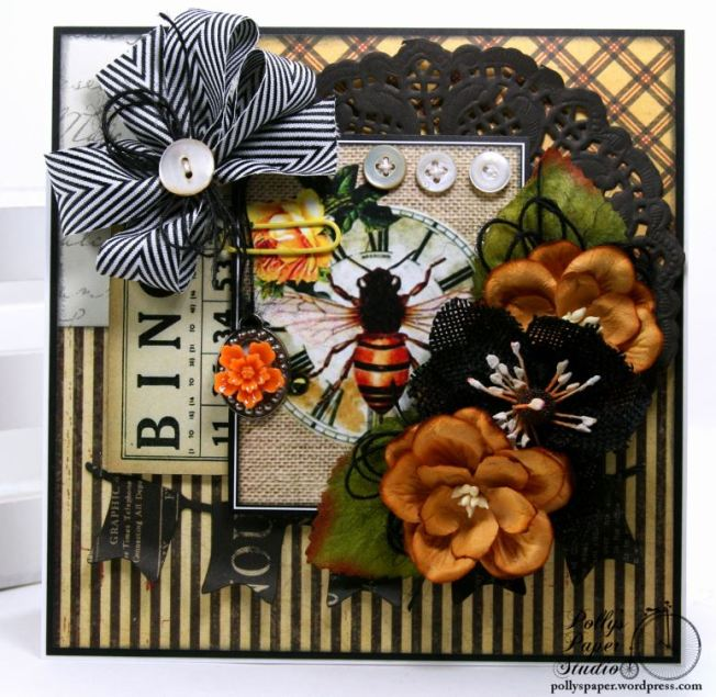 Vintage Bingo Bee All Occasion Greeting Card Polly's Paper Studio 02