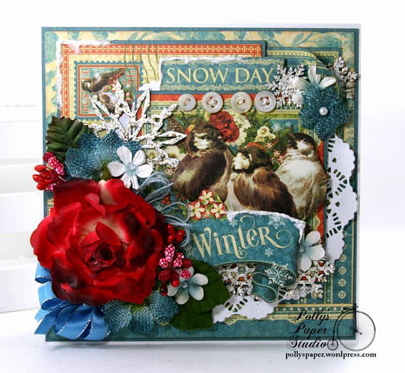 Winter Snow Day Greeting Card Polly's Paper Studio 02