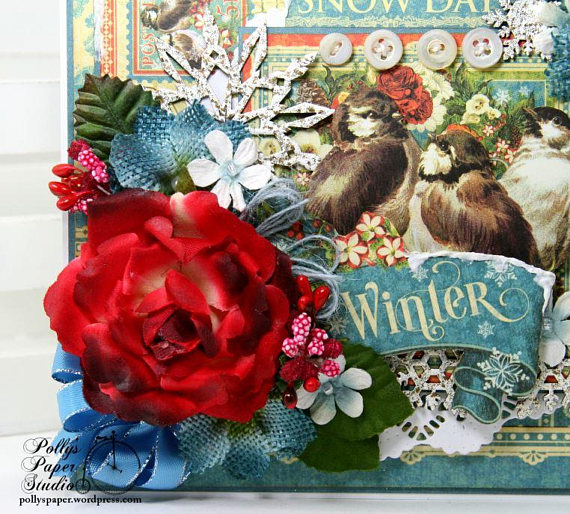 Winter Snow Day Greeting Card Polly's Paper Studio 03