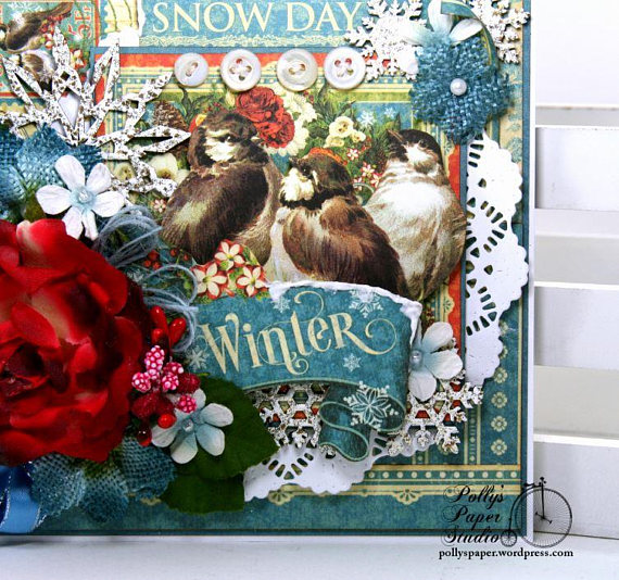 Winter Snow Day Greeting Card Polly's Paper Studio 04