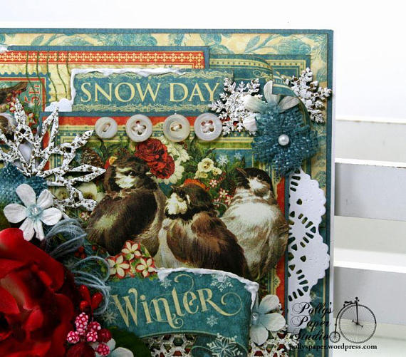 Winter Snow Day Greeting Card Polly's Paper Studio 05