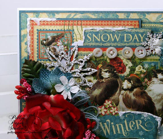 Winter Snow Day Greeting Card Polly's Paper Studio 06
