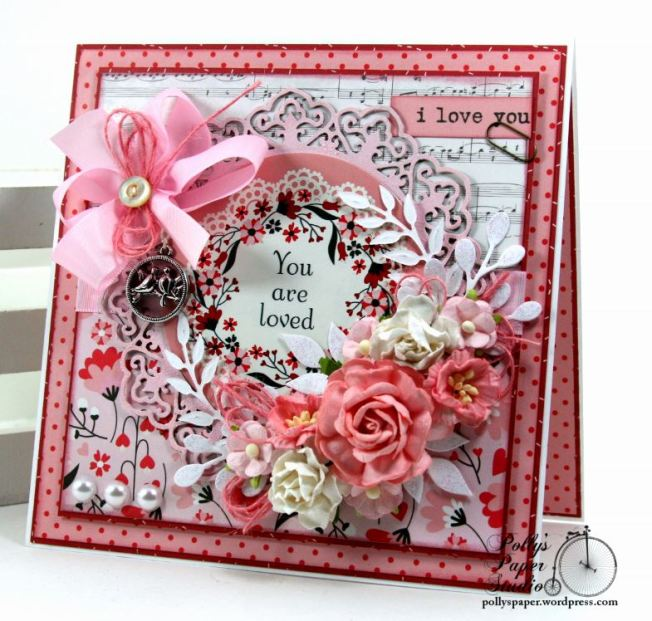 You are Loved Valentine Greeting Card Polly's Paper Studio 01