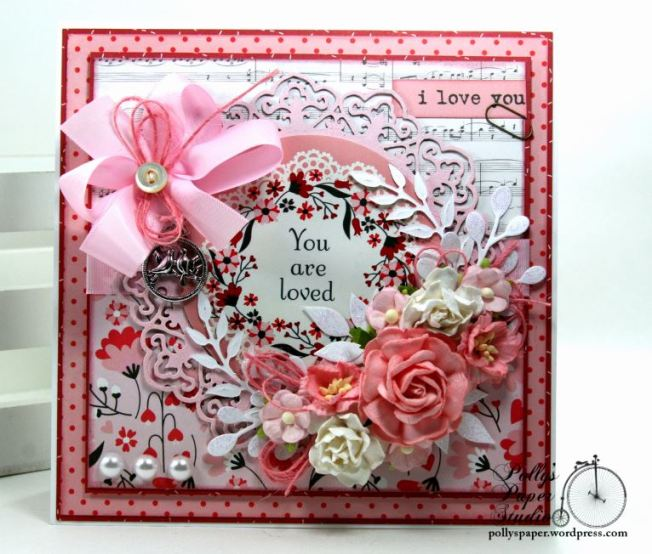 You are Loved Valentine Greeting Card Polly's Paper Studio 02