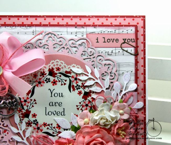 You are Loved Valentine Greeting Card Polly's Paper Studio 05