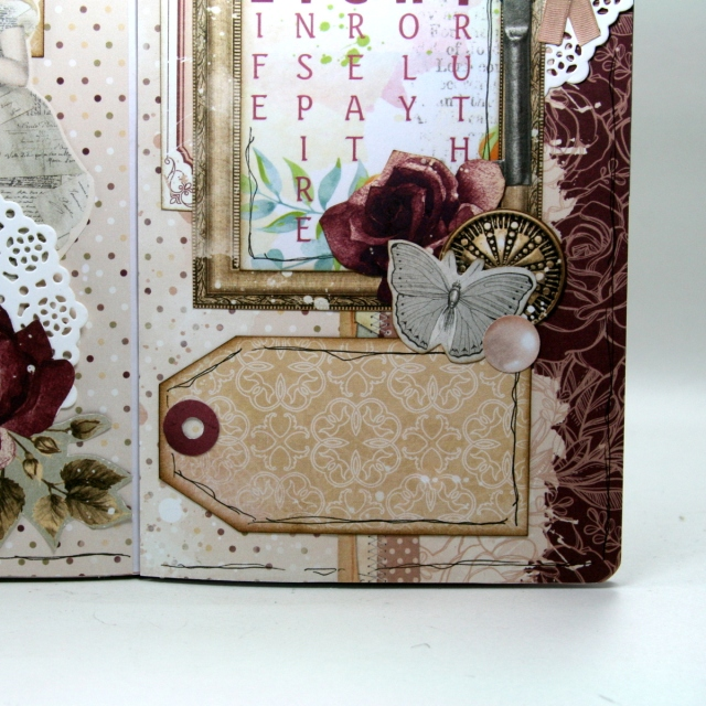 Devotional Travelers Notebook Layout by Ginny Nemchak using Charmed from BoBunny
