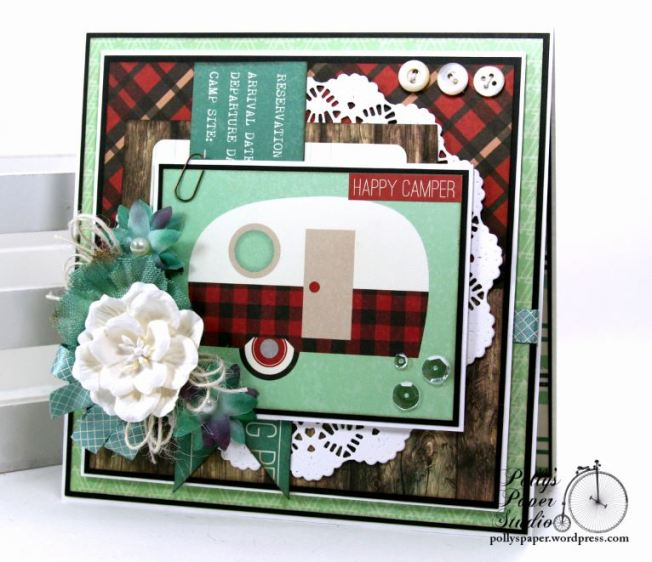 Happy Camper Greeting Card Polly's Paper Studio 01