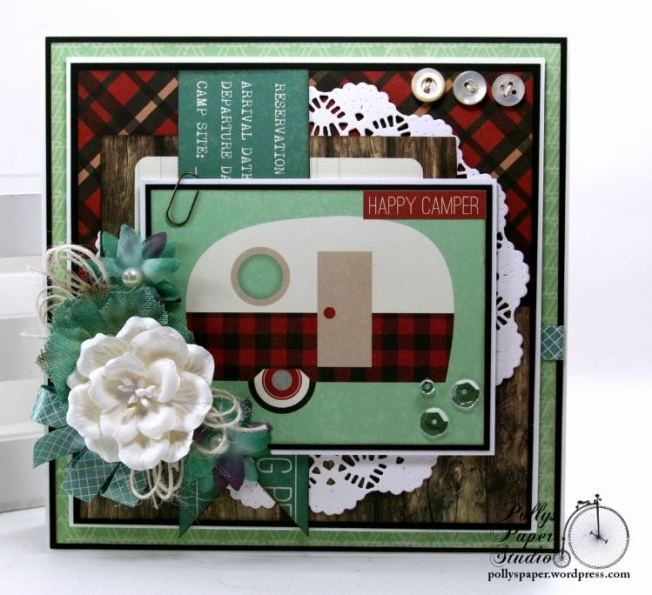 Happy Camper Greeting Card Polly's Paper Studio 02