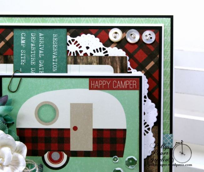 Happy Camper Greeting Card Polly's Paper Studio 05