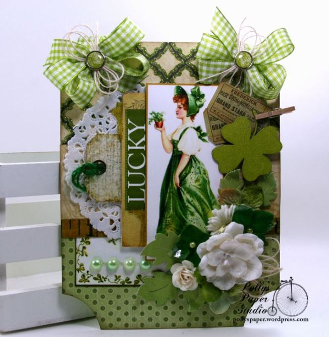 Lucky St Patrick's Day Wall Hanging Polly's Paper Studio 01