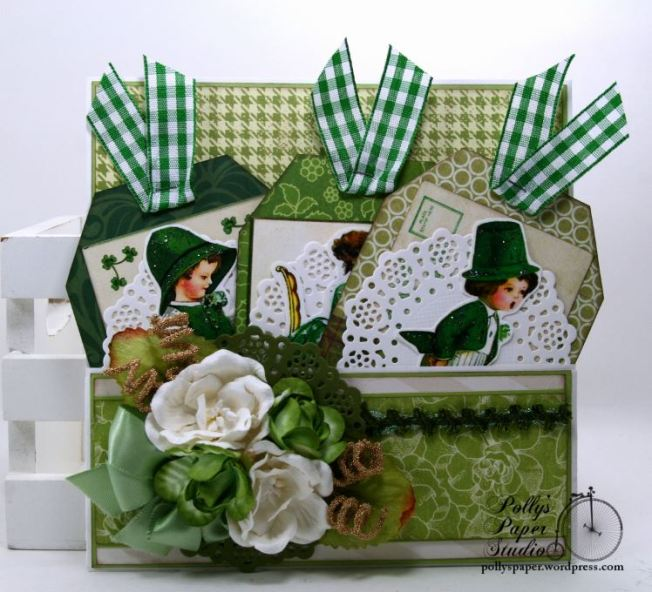 St Patrick's Day Pocket with Tags Polly's Paper Studio 01