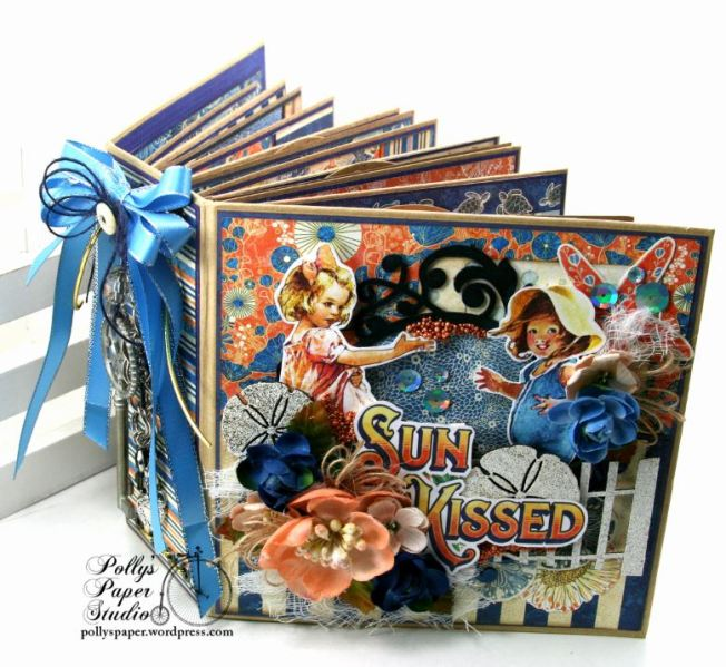 Sun Kissed Mini Album Polly's Paper Studio Graphic 45 01