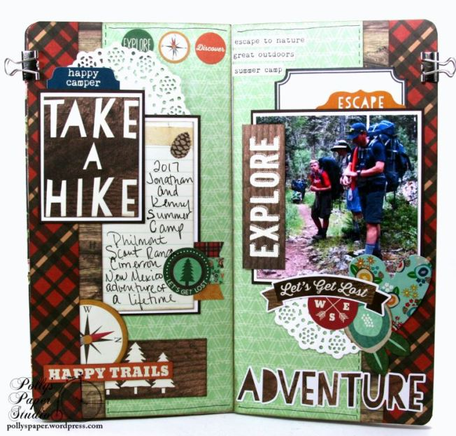 Take a Hike TN Layout Polly's Paper Studio 01