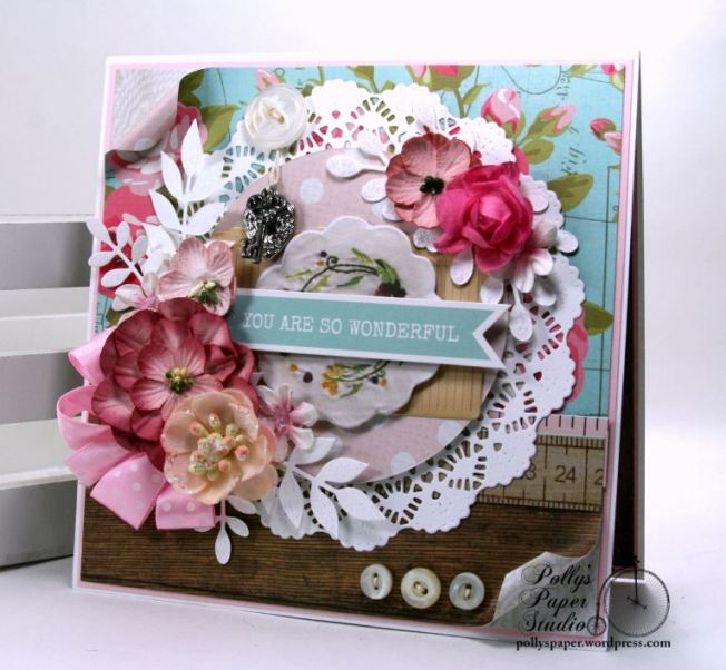 You Are So Wonderful Greeting Card Polly's Paper Studio 01