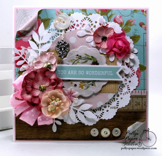 You Are So Wonderful Greeting Card Polly's Paper Studio 02