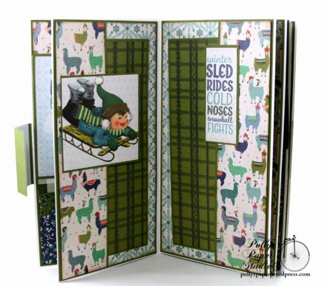 You Warm My Heart Llama Mini Album Polly's Paper Studio 04