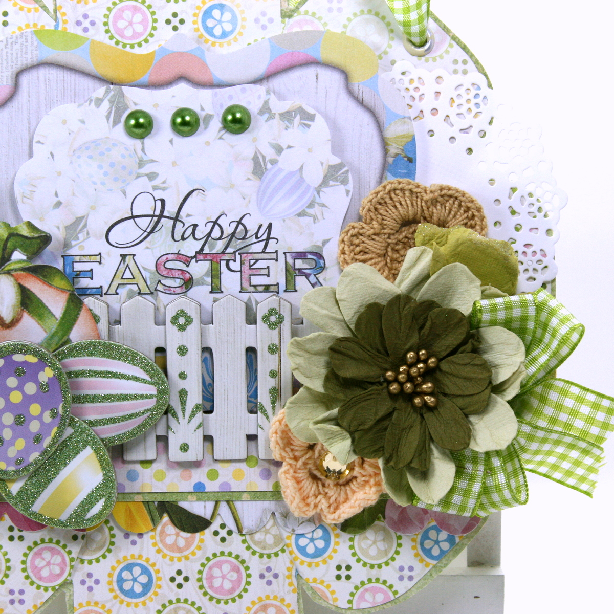 Happy Easter Wall Hanging By Ginny Nemchak For BoBunny Using The Cottontail Collection And WeRMemory Keepers