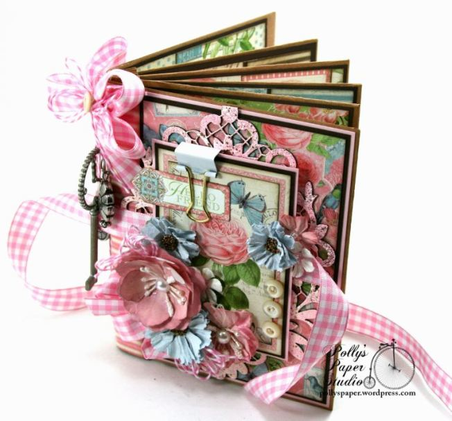 Botanical Tea Envelope Mini Album Polly's Paper Studio Graphic 45 01