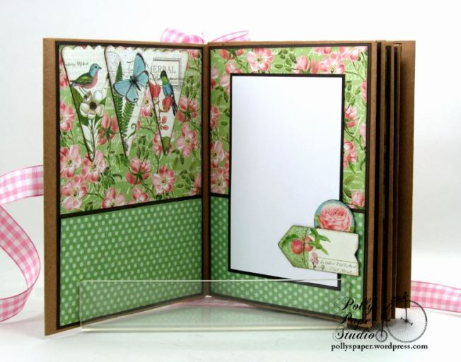 Botanical Tea Envelope Mini Album Polly's Paper Studio Graphic 45 04