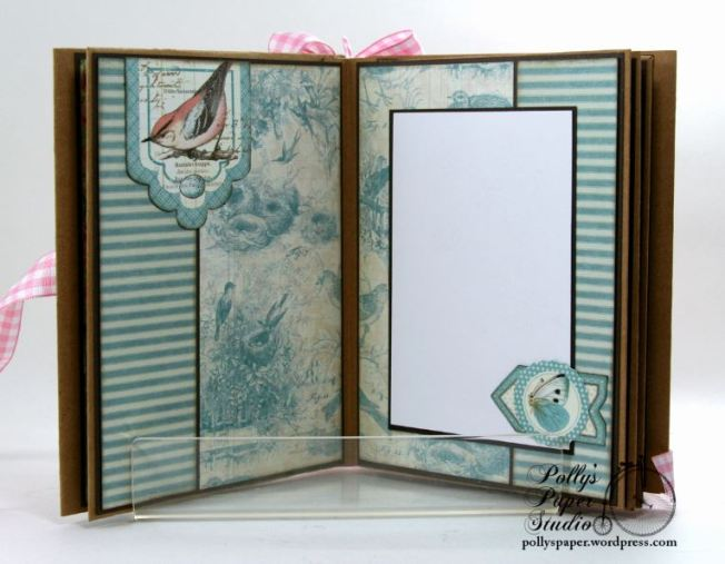 Botanical Tea Envelope Mini Album Polly's Paper Studio Graphic 45 05