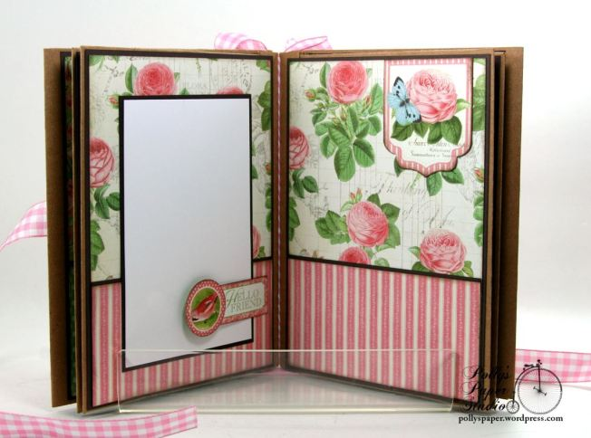 Botanical Tea Envelope Mini Album Polly's Paper Studio Graphic 45 06