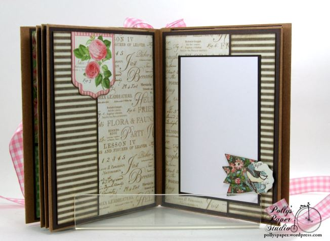 Botanical Tea Envelope Mini Album Polly's Paper Studio Graphic 45 07