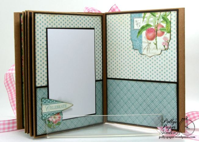 Botanical Tea Envelope Mini Album Polly's Paper Studio Graphic 45 08