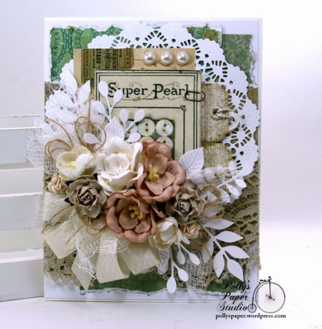 Button Card Greeting Card All Occasion POlly's Paper Studio 01