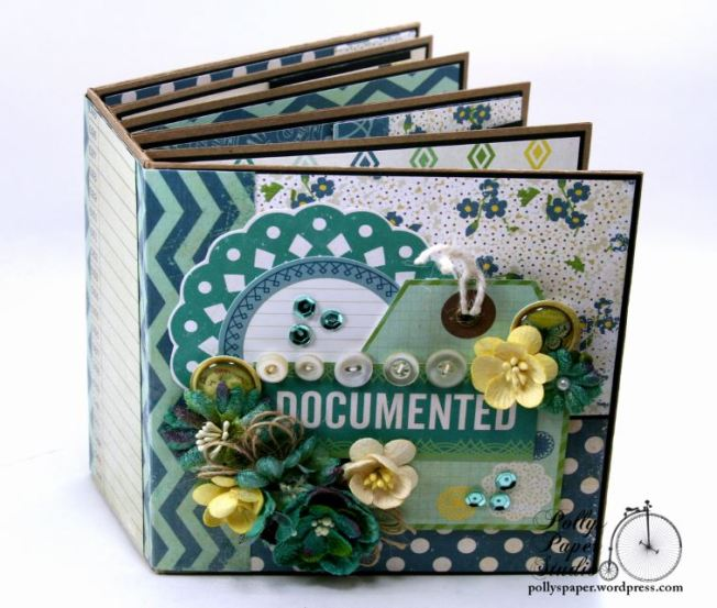 Documented Mini Album Scrapbook Polly's Paper Studio 01