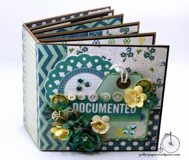 Documented Mini Album Scrapbook Polly's Paper Studio 01