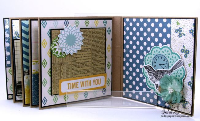 Documented Mini Album Scrapbook Polly's Paper Studio 010