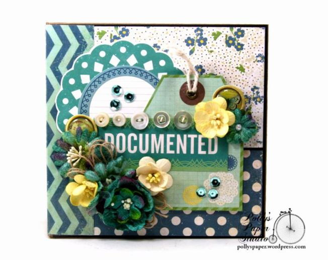 Documented Mini Album Scrapbook Polly's Paper Studio 011
