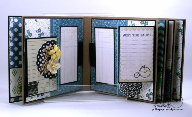 Documented Mini Album Scrapbook Polly's Paper Studio 05