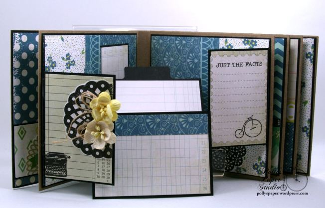Documented Mini Album Scrapbook Polly's Paper Studio 06