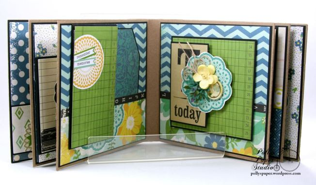 Documented Mini Album Scrapbook Polly's Paper Studio 07