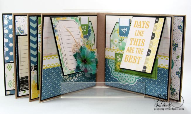 Documented Mini Album Scrapbook Polly's Paper Studio 08
