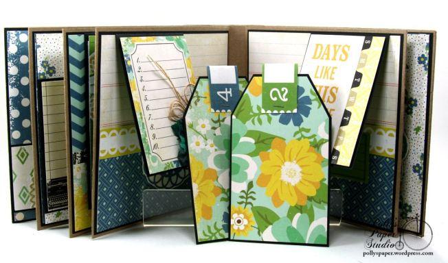 Documented Mini Album Scrapbook Polly's Paper Studio 09
