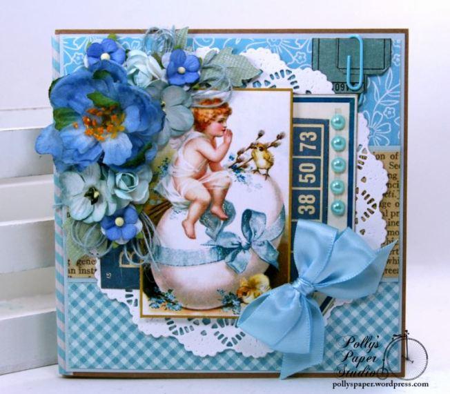 Easter Greetings Slim Holiday Mini Album Polly's Paper Studio 01
