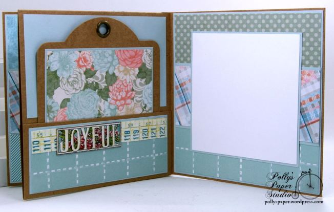 Easter Greetings Slim Holiday Mini Album Polly's Paper Studio 05